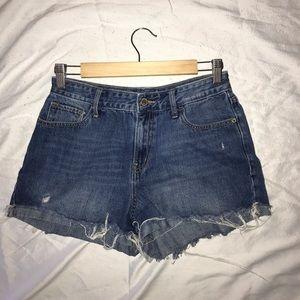 High waisted jean shorts size 4